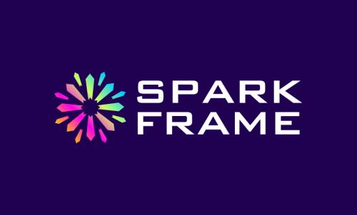 Sparkframe - Technology startup name for sale