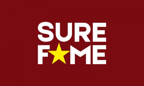 Surefame - Music domain name for sale