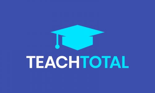 Teachtotal - E-learning brand name for sale