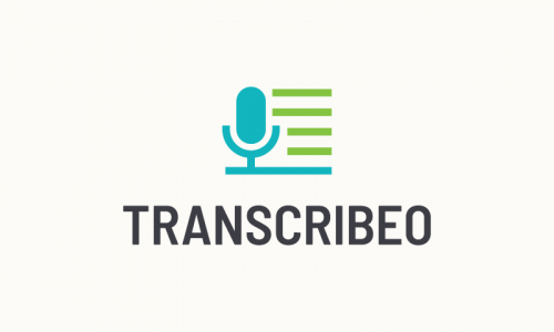 Transcribeo - Writing brand name for sale