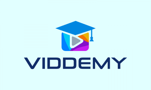 Viddemy - E-learning company name for sale
