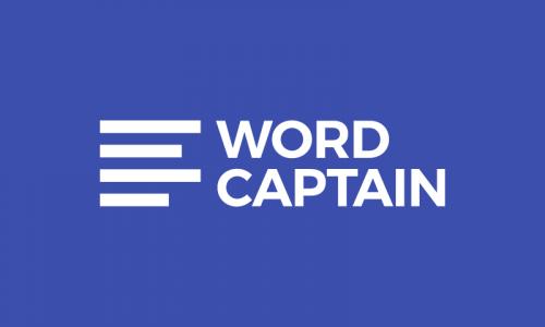 Wordcaptain - Media brand name for sale