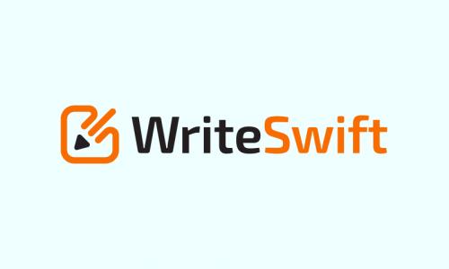 Writeswift - Writing startup name for sale