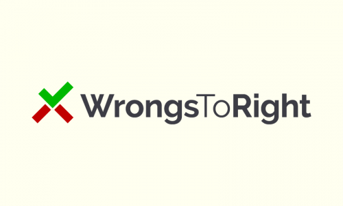 Wrongstoright - Non-profit company name for sale
