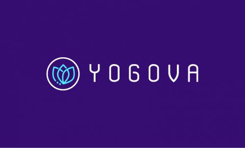 Yogova - Contemporary startup name for sale