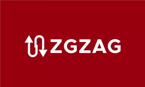 Zgzag - Modern startup name for sale