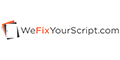 We Fix Your Script Coupons