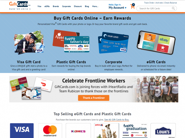 GiftCards.com Deals } Up to 25% off Merchant Gift Cards ...