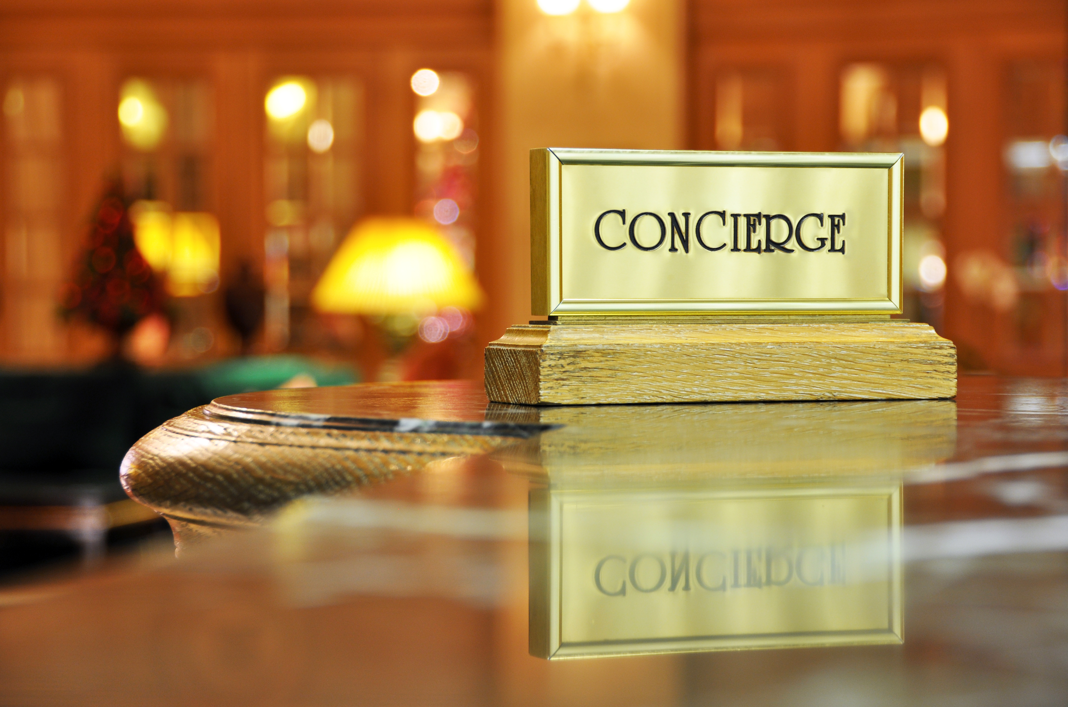 behind the desk the power of the concierge logware