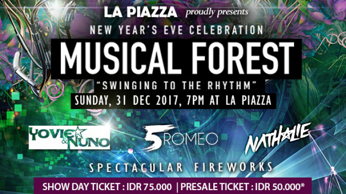 Celebrate New Years Eve Musical Forest Swinging to The Rhythm