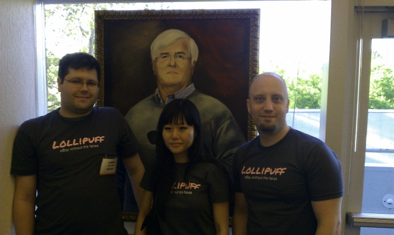 Lollipuff's homepage with Ron Conway