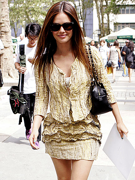 Celebrity wearing Chanel Shopping Tote bag