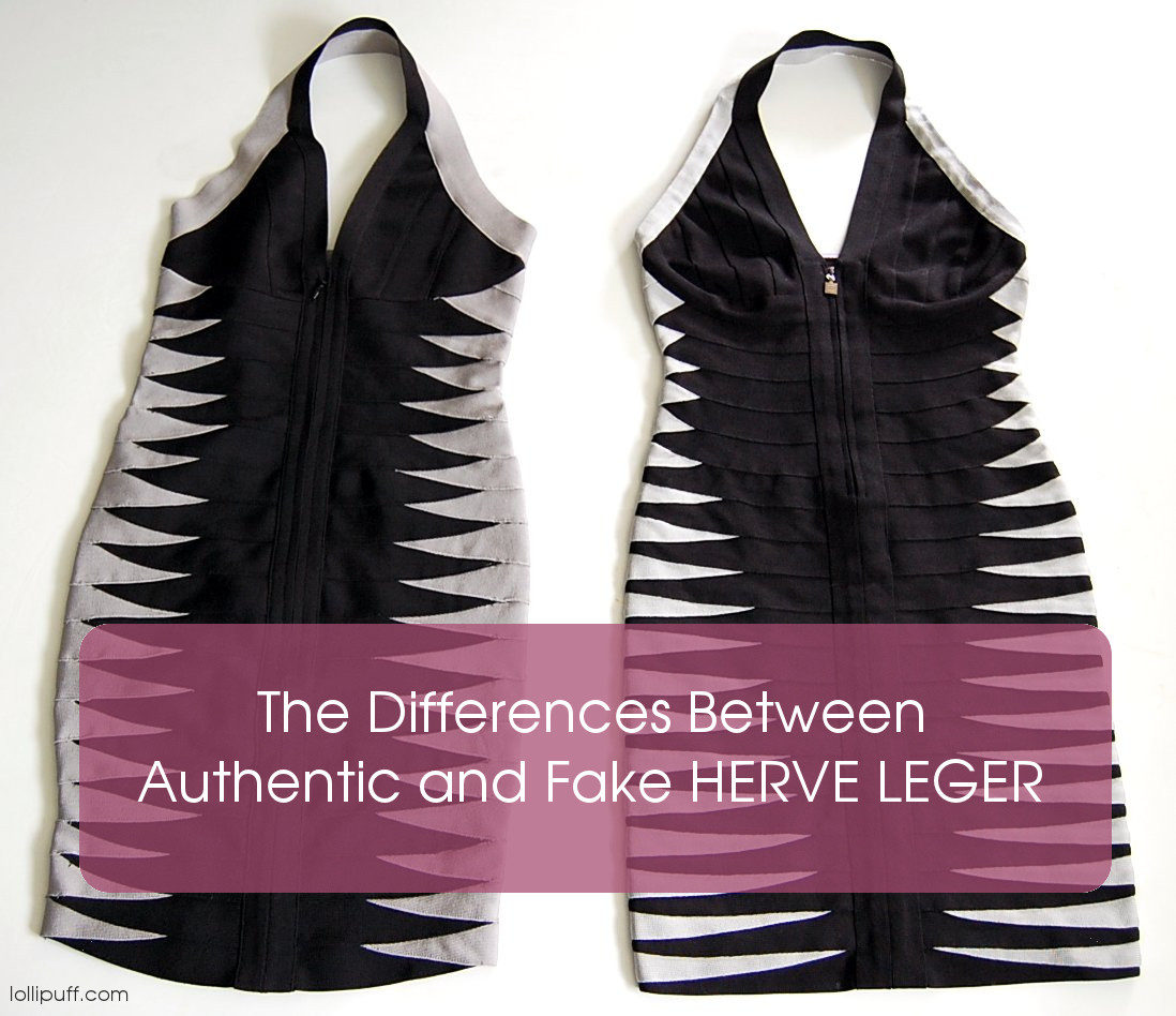 replica vs real Herve Leger dress fit