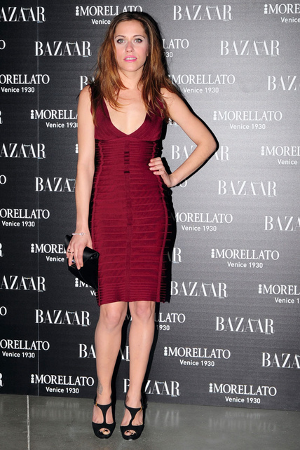 Celebrity wearing Herve Leger dresses