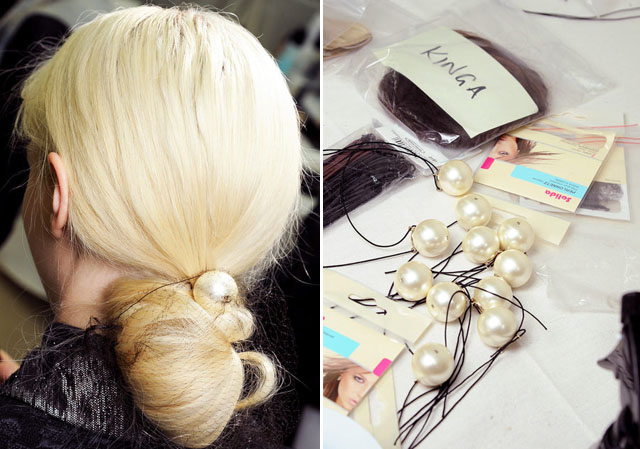 DIY Pearl Hairband   Chanel 2013 Spring Summer Runway Hair  bc44d2f9e08