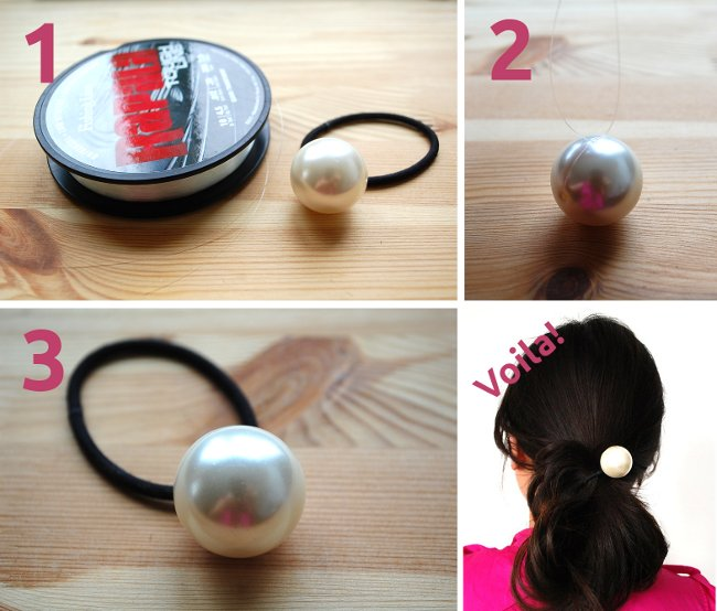 DIY Chanel Huge Pearl hairband how to diy
