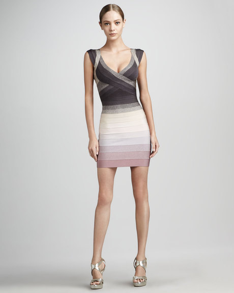 Cross bust Herve Leger dress