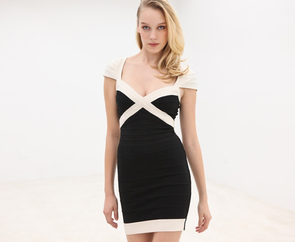 bust enlarging Herve Leger dress