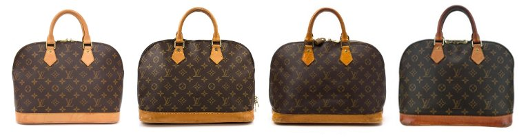 Louis Vuitton vachetta patina leather darkening stages