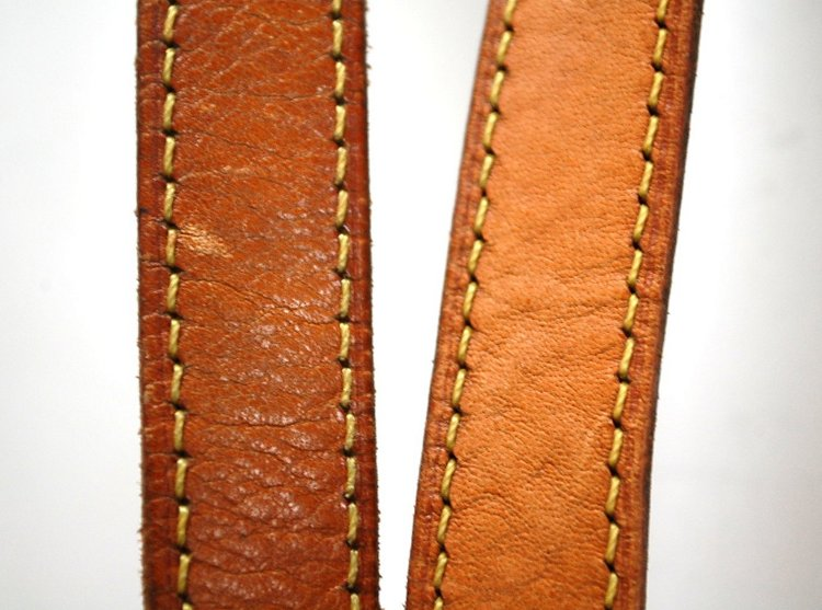 Louis Vuitton vachetta patina leather darkening lightening before and after