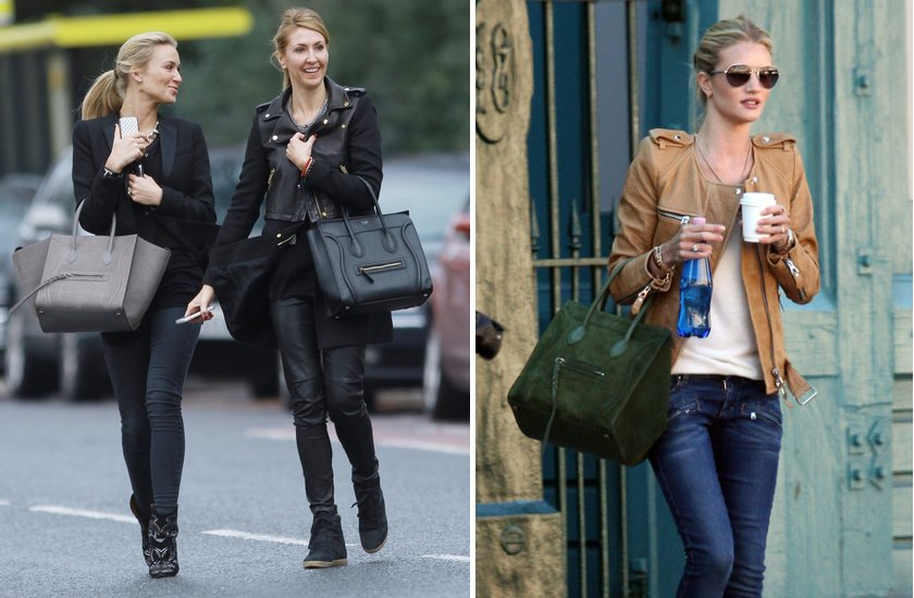 celebrities with Celine luggage boston bags