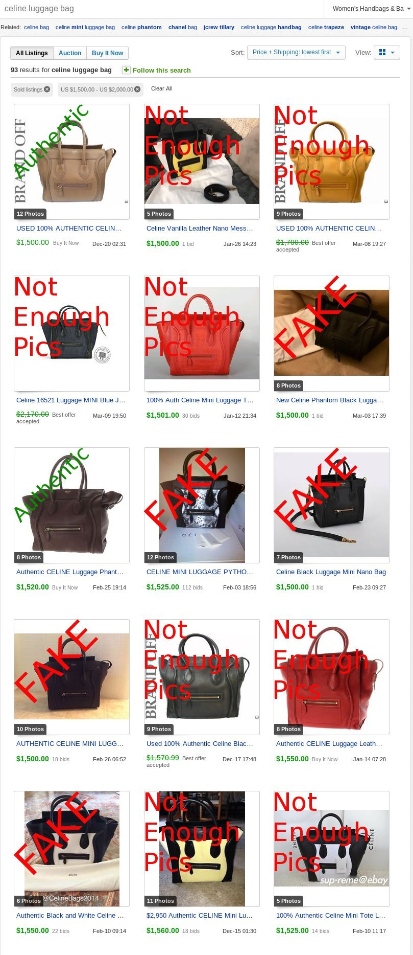 celine replica handbag - Counterfeit Celine Selling for LOTS of Money | Lollipuff