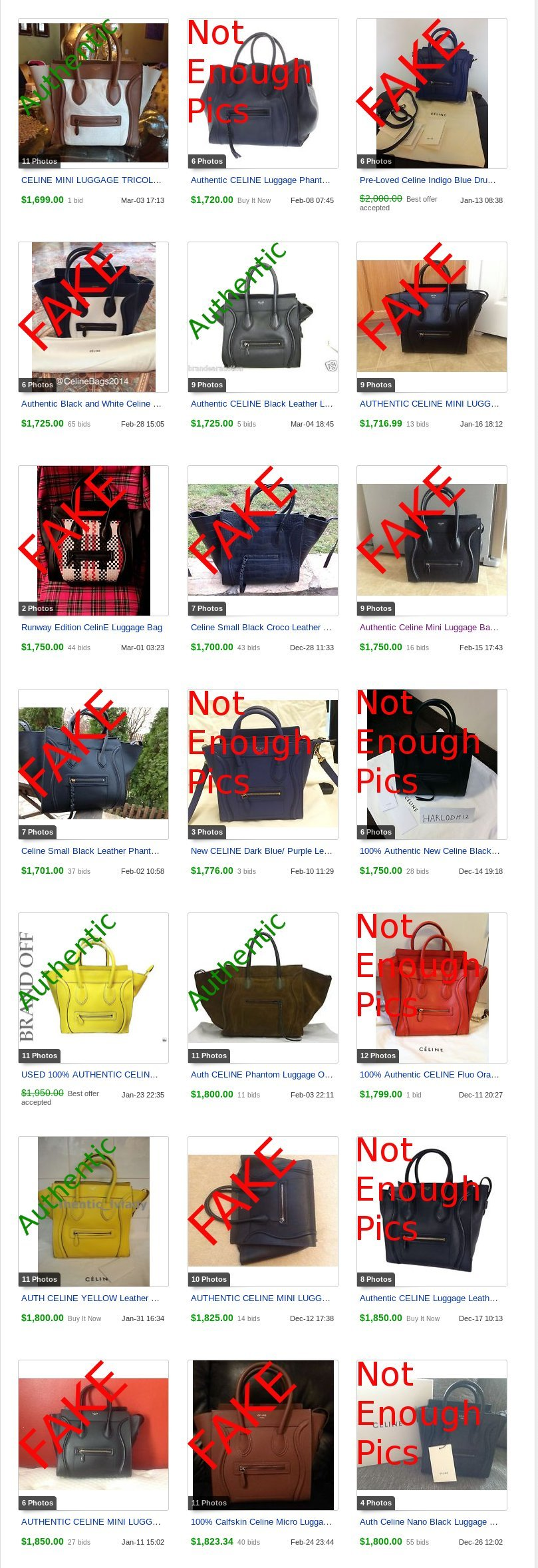 celine mini luggage buy online - Counterfeit Celine Selling for LOTS of Money | Lollipuff