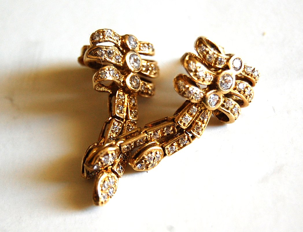 gold bow 18k earrings