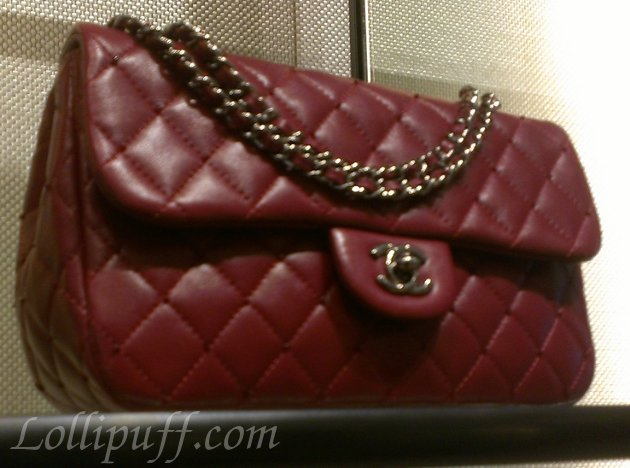 red classic quilted burgundy interwoven chanel
