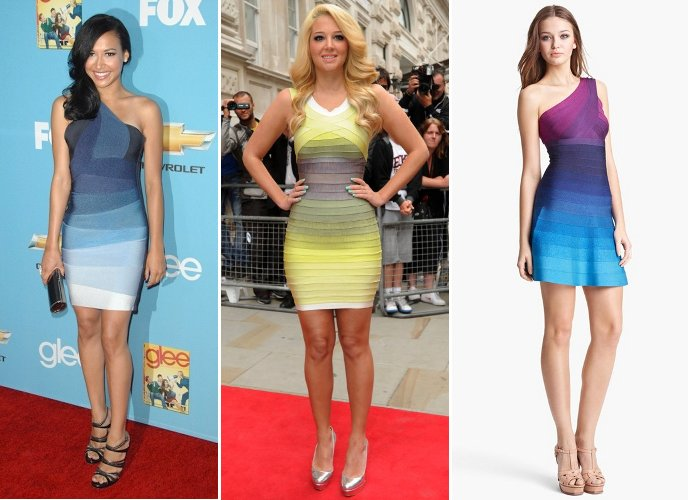 illusion of ombre Herve Leger dresses