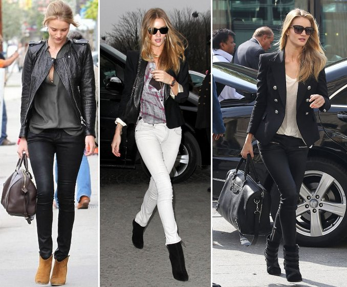 very polished skinny pants outfit with blazer
