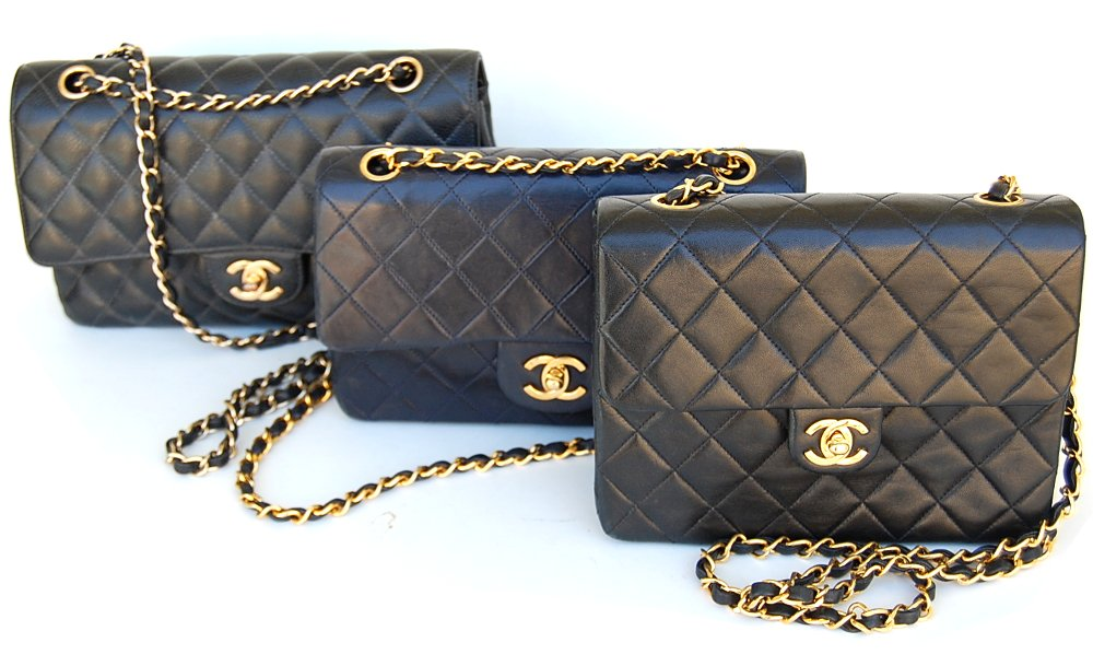 Chanel quilted classic vintage flap bags