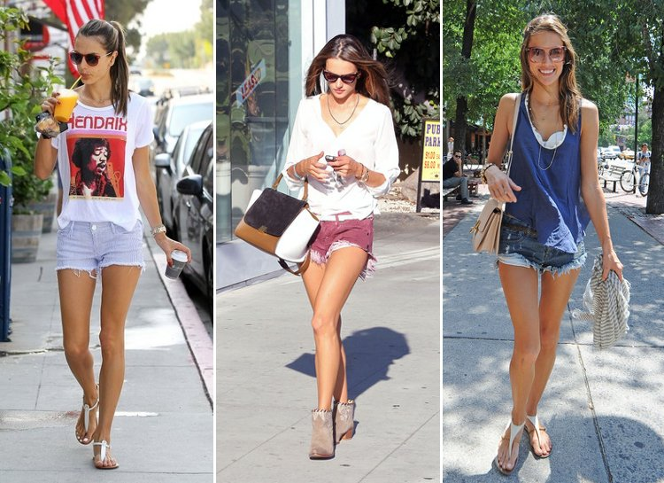 Alessandra Ambrosio casual shorts clothing