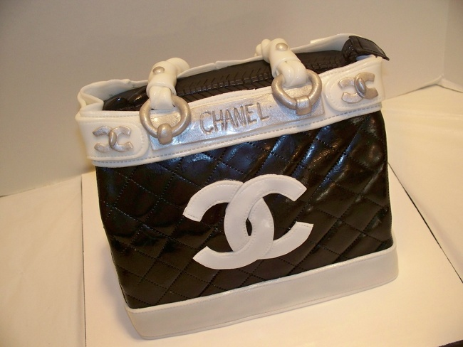 d920b582b9a chanel designer handbag bag purse custom pastry cakes for birthdays  weddings graduation