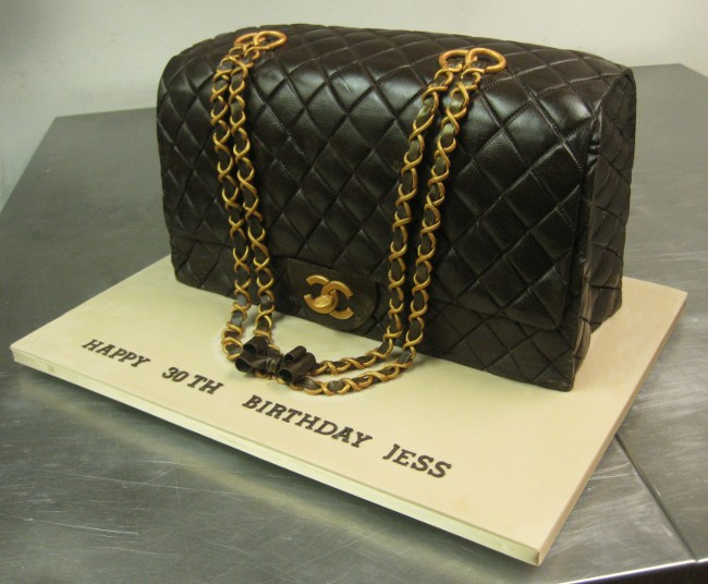 5776266bcd0f chanel designer handbag bag purse custom pastry cakes for birthdays  weddings graduation
