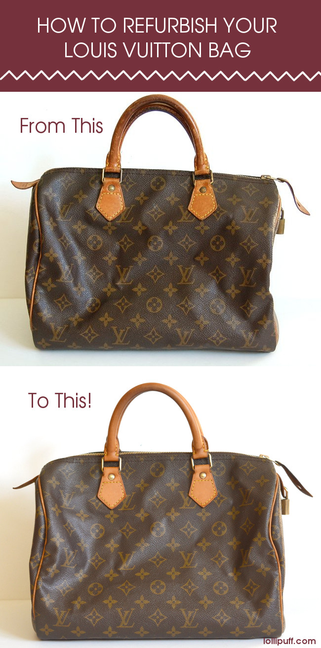 cleaning refurbing vintage Louis Vuitton handbag