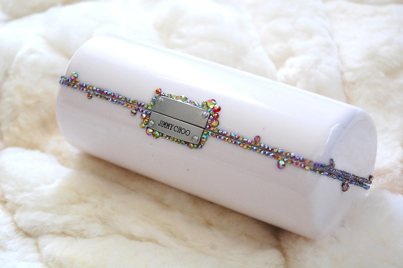 4924f9a452e0 DIY Crystal Covered Clutch From Jimmy Choo Sunglasses Case | Lollipuff