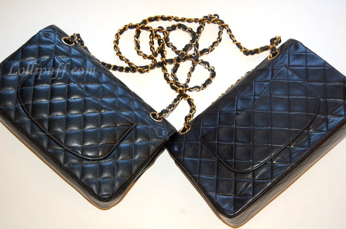 dd0cfd5e9084 Chanel 2.55 Double Flap: Caviar vs Lambskin | Lollipuff