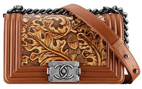 2363ba69b7aa4d chanel paris dallas 2013 2014 bag collection acorn leaf artist western  cowboy purses