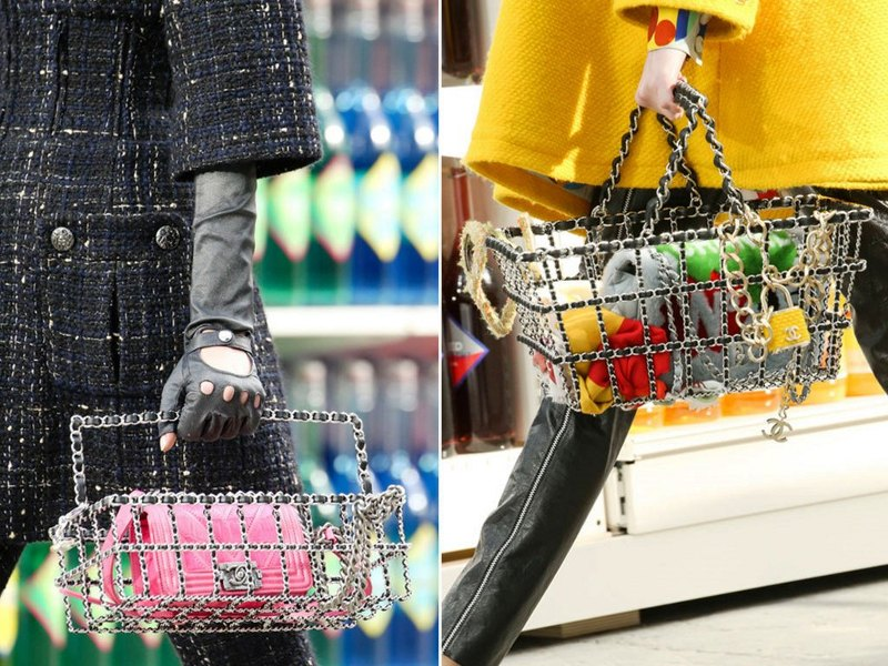 chanel fall winter 2014 grocery baskets filled with items 7f467fe755d72