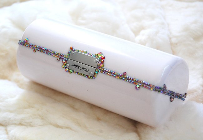 diy how to crystal covered strasss jimmy choo sunglass case clutch bag