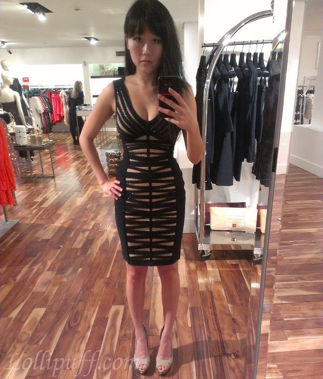 Rare Beaded Herve Leger Dress