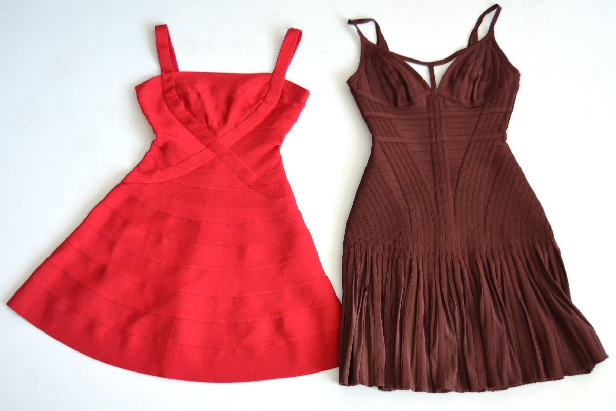 herve leger dresses from my personal collection closet