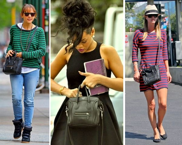 Celebrities with Celine Nano Shoulder Bags | Lollipuff