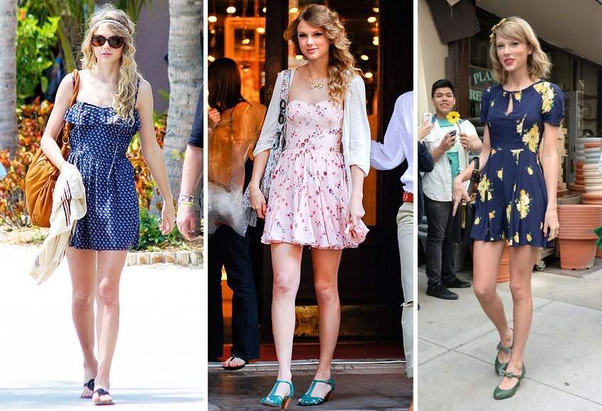 Taylor Swift sundresses outfits
