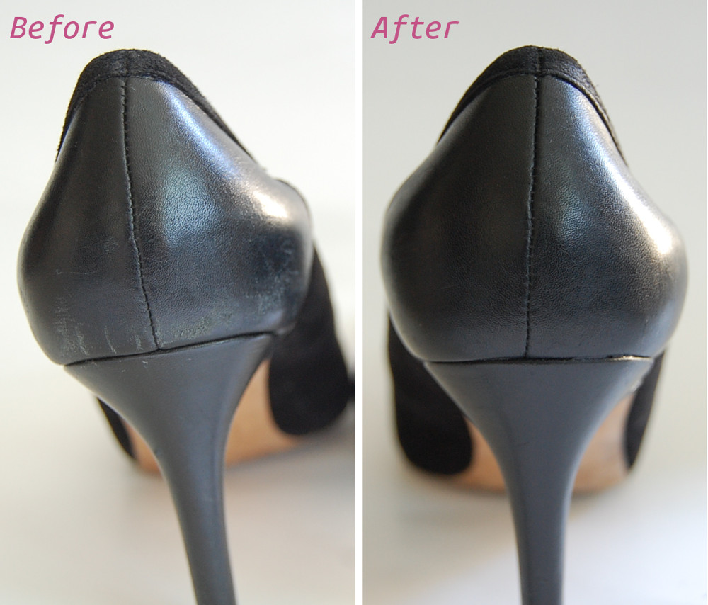 how to fix scuffs on leather shoe