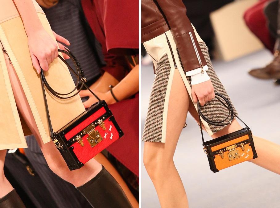 ecd0e1f52b11 Louis Vuitton Petite Malle Trunk Chest Bag Fall Winter Autumn 2014 shoulder  crossbody clutch
