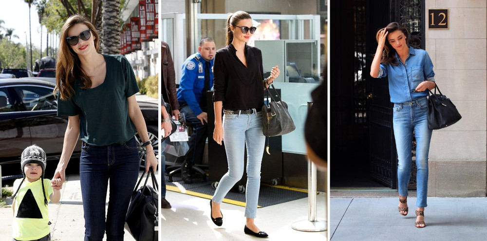 miranda kerr everyday polished jeans outfit