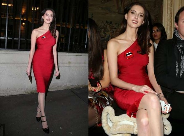 celebrities wearing tight sexy bandage bodycon Herve Leger dresses