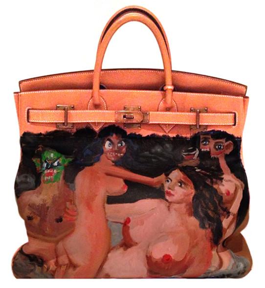 Kim Kardashian Lets Her Baby Paint her Hermes | Lollipuff